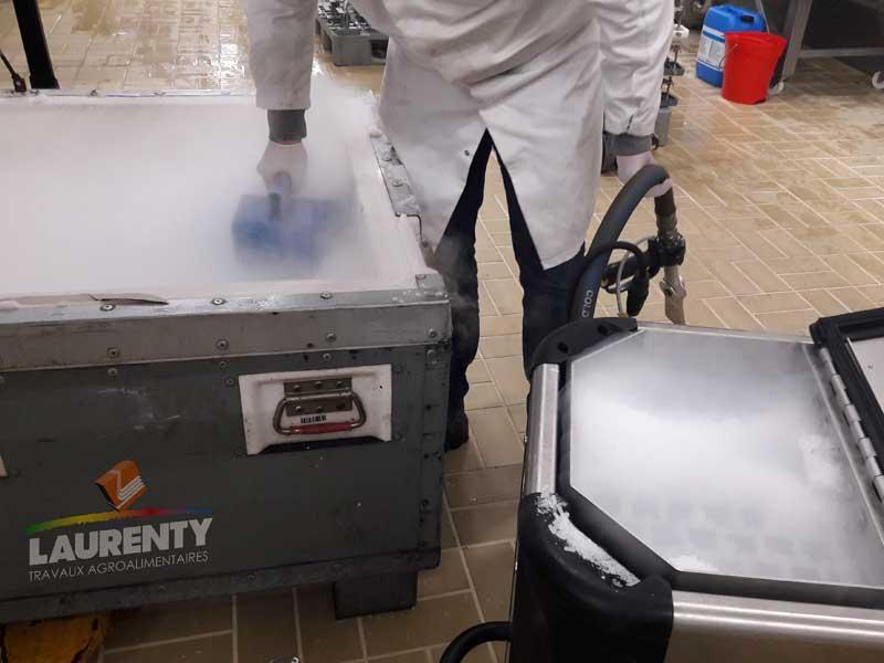 Nettoyage par cryogénie