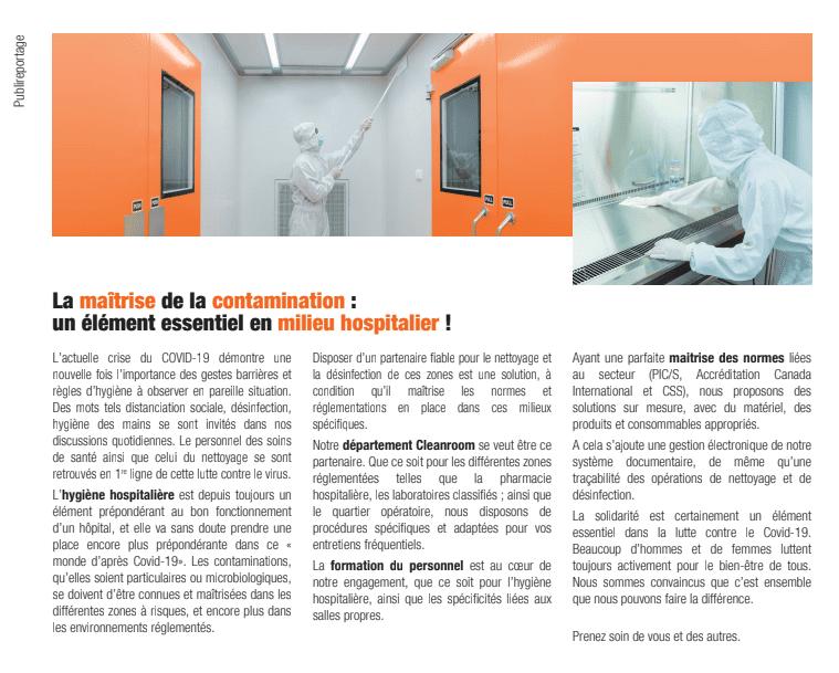 Laurenty - nettoyage désinfection hôpitaux